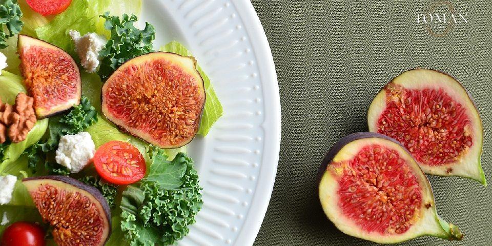 Saláta friss fügével és dióval - Toman Diet