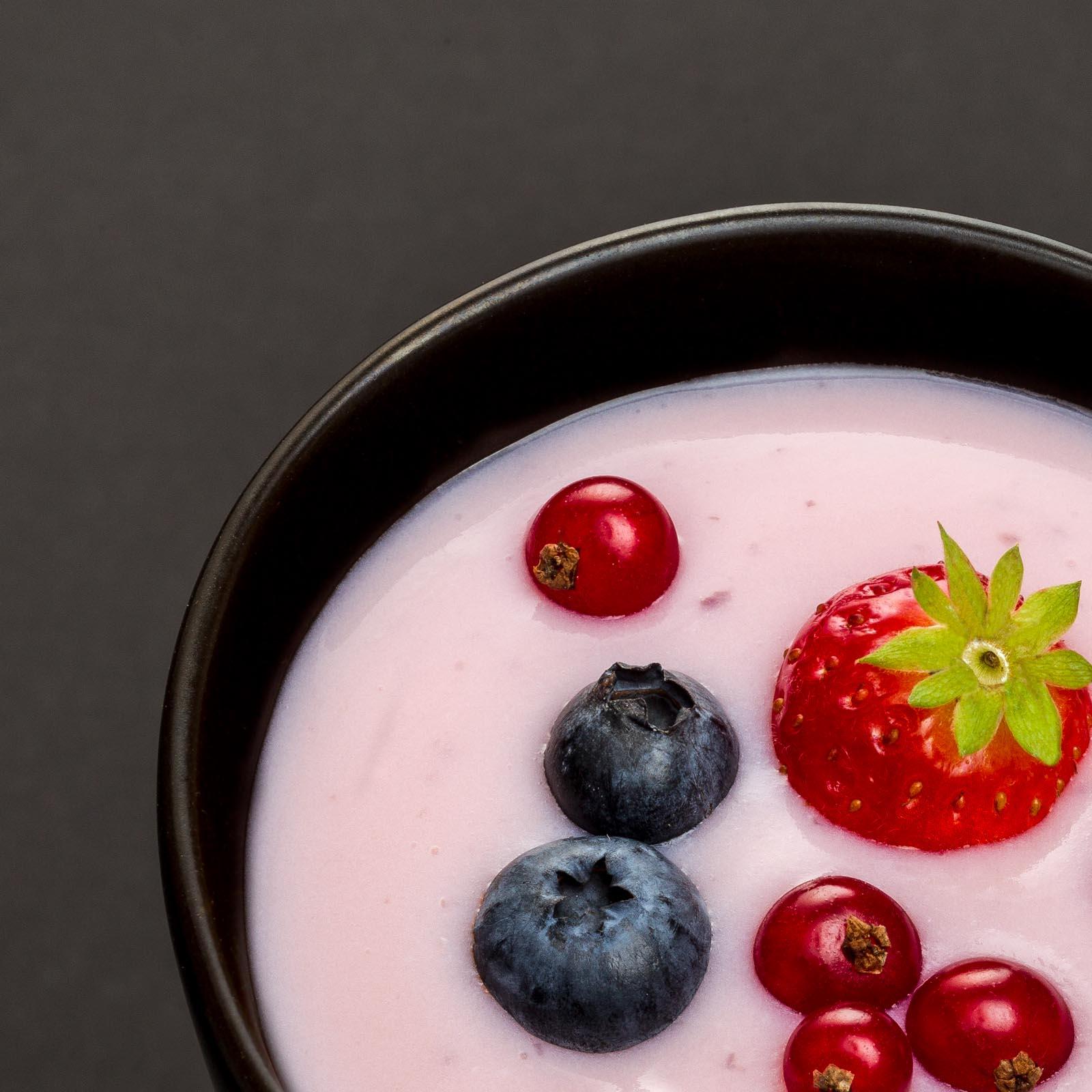 Feketeribizlis joghurt desszert