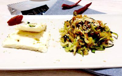 Fogyókúrás cukkinis tészta tofuval